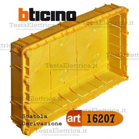 cassette elettriche da incasso scatola 16207 incasso derivazione con coperchio 29x15 cbticino