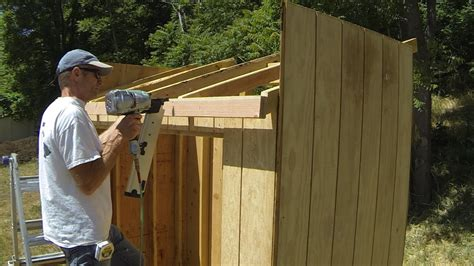 build  lean  shed part  roof framing youtube