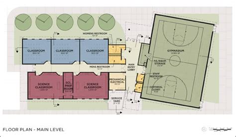 basketball gym floor plans facility kentlake gymnasium