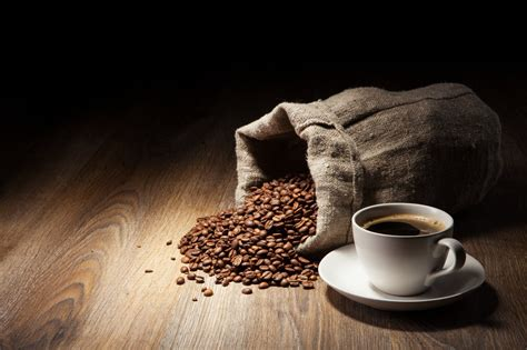 coffee sack wallpaper coffee bag grain cup table tree hd wallpaper