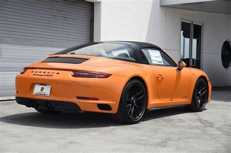 orange porsche targa pastel orange 2018 porsche 911 targa 4 gts german cars