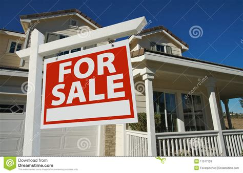 home for sale sign new home royalty free stock photos