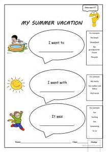 my summer vacation worksheet free esl printable