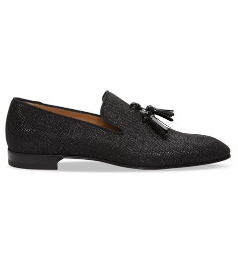 christian louboutin loafers for christian louboutin dandelion glitter leather loafers in