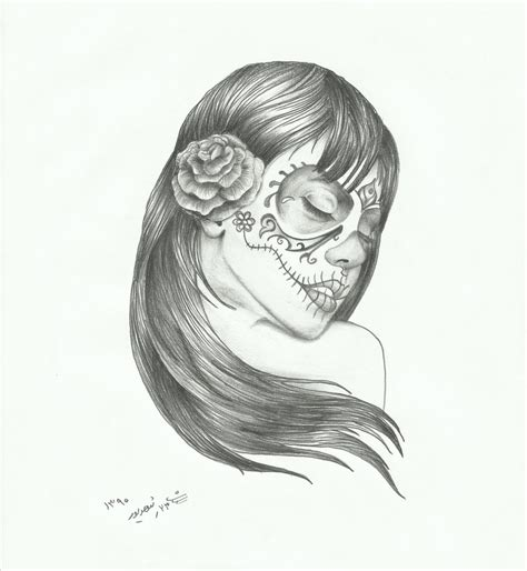 sugar skull lady tattoo designs sugar skull in wind by sasan ghods on deviantart