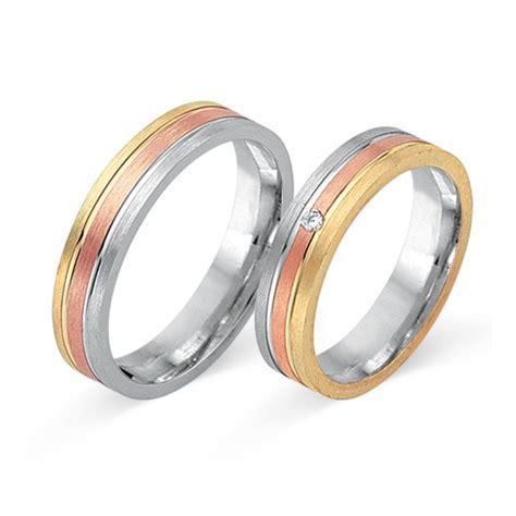 Eheringe Tricolor by Eheringe 585er Tricolorgold Mit Diamant Wr0047 5s