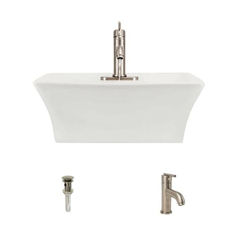 mr direct bathroom sinks mr direct porcelain vessel in bisque with 753 faucet