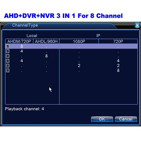 Nvr 8 Channel Support Ip 720p Sd 1080p mini ahdm dvr 8 channel cctv hybrid dvr 1080p nvr 3 in 1 recorder for ahd analog