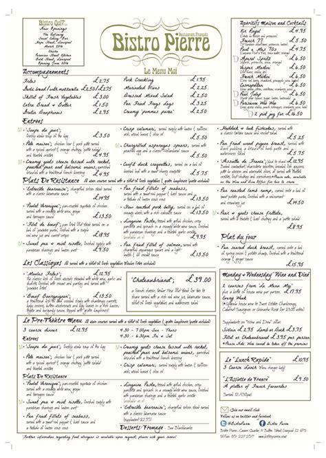 menu layout pdf 522 best restaurant menu design images on pinterest