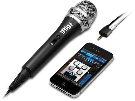 iphone microphone ik multimedia irig mic microphone for iphone and android