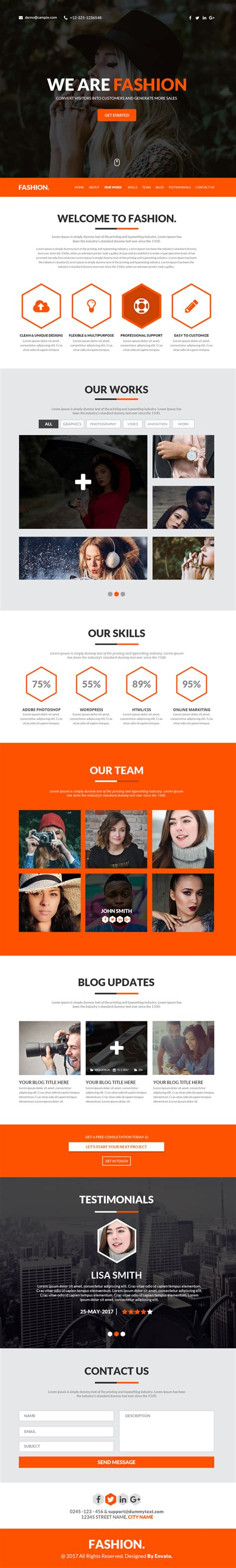 single page phlet templates best single page web templates web design graphic