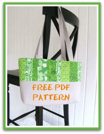 tote bag pdf pattern free easy quilted tote pdf sewing pattern jelly roll fabric
