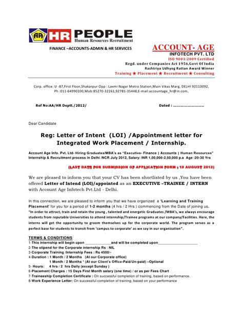 general appointment letter sle appointment letter sle for general manager 28 images