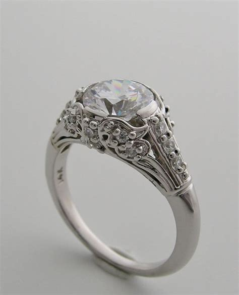 deco engagement rings pretty feminine deco