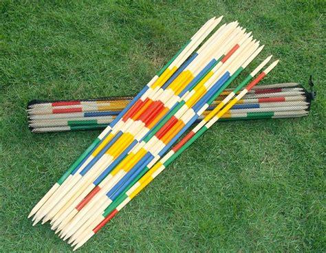 garten spiele riesen mikado spiel aus holz mit tasche outdoor sport