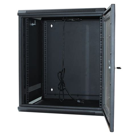 fully assembled dvd cabinet 120054gx 9u wall mount cabinet rack w locking glass door