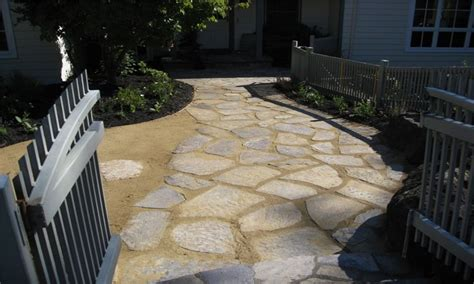 landscaping paver ideas flagstone  decomposed granite