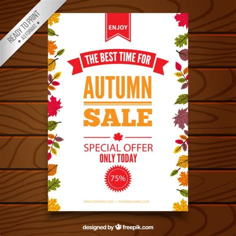 autumn sale poster template vector free download
