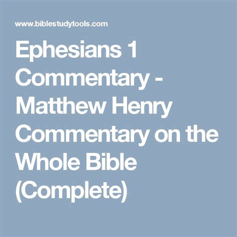 Pdf Matthew Henry Concise Commentary Ephesians 1 best 25 ephesians 1 commentary ideas on