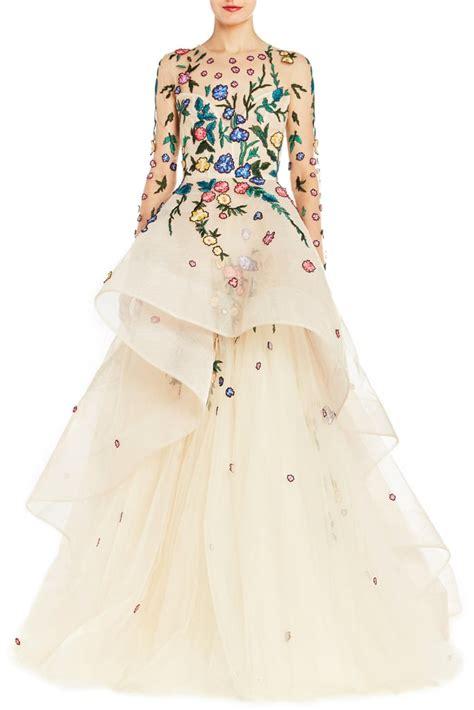 wedding dress with color wedding dresses with color popsugar fashion