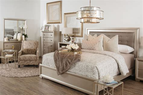 lil diva chagne 6 piece full bedroom set four piece transitional crocodile textured bedroom set in