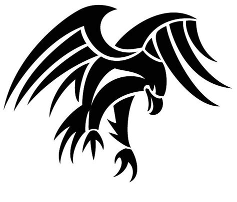 strong tribal tattoos strong tribal black flying eagle design