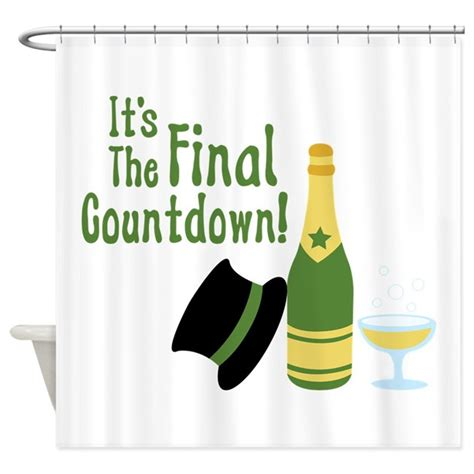 Its The Countdown by Its The Countdown Shower Curtain By Hopscotch2