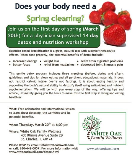 March Detox by Join Us For A 14 Day Detox And Nutrition Workshop On March