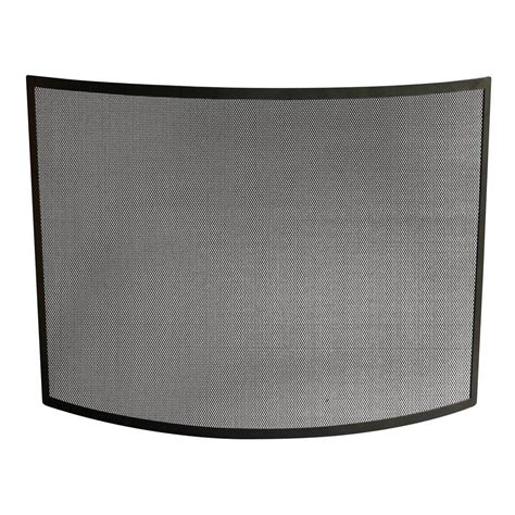 uniflame fireplace screen uniflame curved black wrought iron single panel fireplace