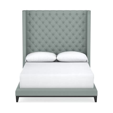 extra tall tufted headboard presidio extra tall tufted bed williams sonoma