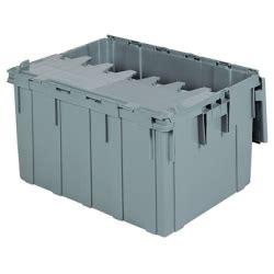 4 ft plastic storage containers 28 quot l x 21 quot w x 15 1 2 quot h od akro mils r attached lid