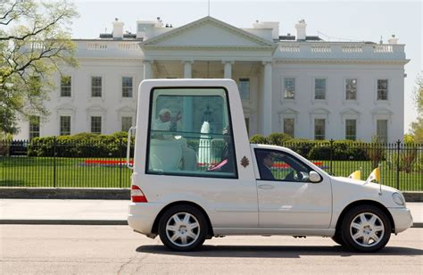 pope mobile whispers in the loggia b16 goes hybrid quot green