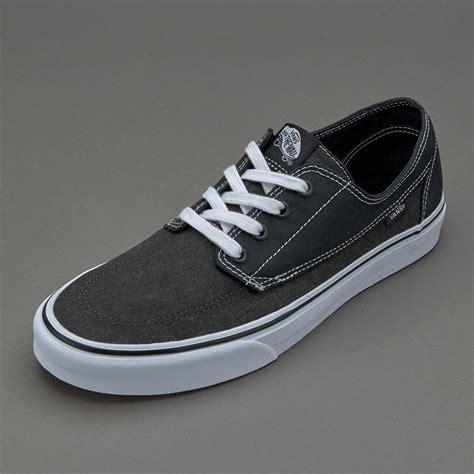 vans brigata washed canvas pirate black mens shoes