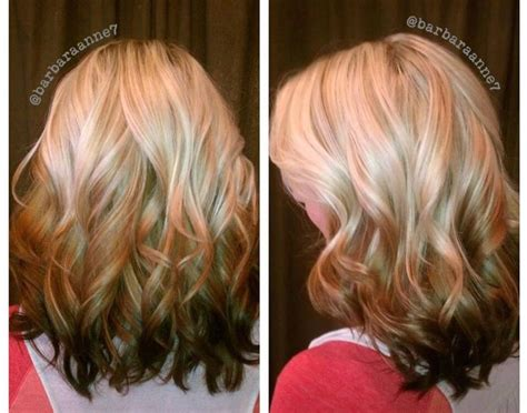 Midlength Blonde Reverse Ombre | reverse ombr 233 blonde to brunette platinum kenra color