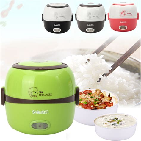 Rice Cooker Di Hartono 1 3l electric portable lunch box rice cooker steamer 2 layer stainless steel ebay
