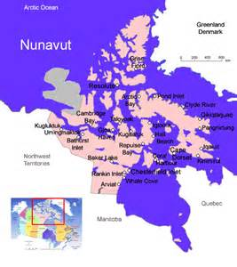canada map nunavut nunavut canada guide tourist and hotel information for
