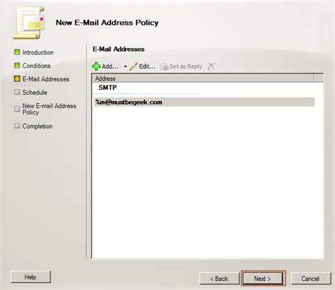 email format domain setup exchange 2010 mail flow in local ad domain