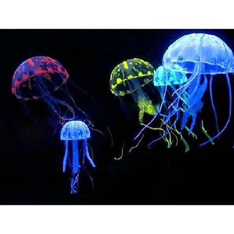 Glowing Jellyfish Dekorasi Hiasan Aquarium Glowing Jellyfish Dekorasi Hiasan Aquarium Blue Jakartanotebook