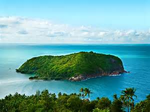 caribbean sea little green island tropical islands natural
