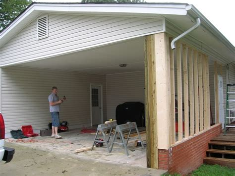 Turn Carport Into Garage by Carport Turning A Carport Into A Garage