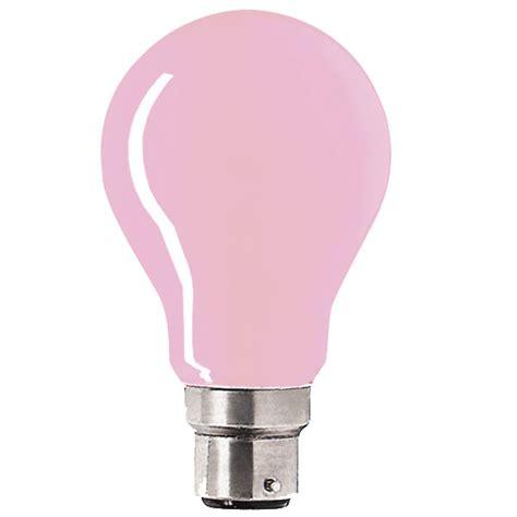Pink Light Bulbs by Gls 240v 60w B22d Pink Coloured