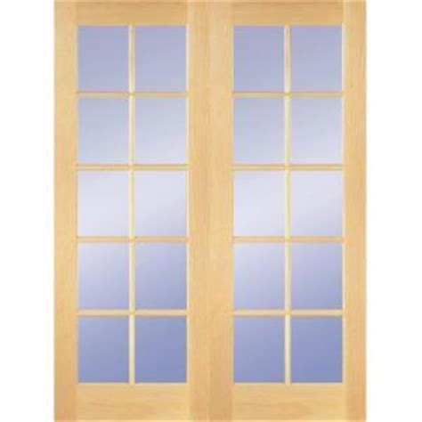 french doors interior home depot builder s choice 48 in x 80 in 10 lite clear wood pine