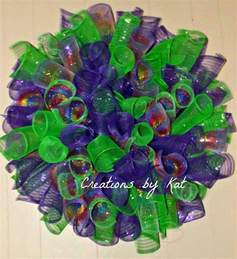 Ready C006 Kalung Wreath Premium easter curly deco mesh wreath premium mesh
