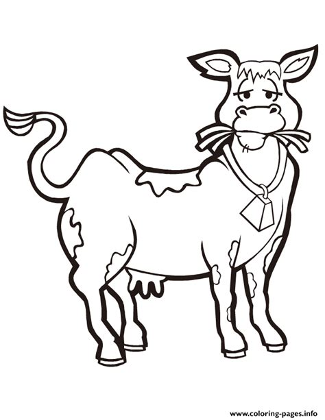 cow coloring pages free printable cute cow eating hay coloring pages printable