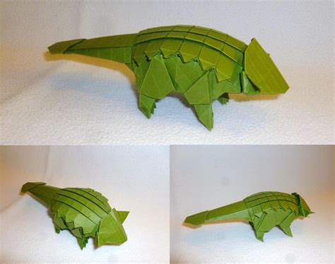 Origami Ankylosaurus - some of the best origami i ve seen in 65 million years