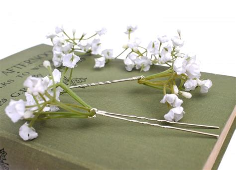 Wedding Hair With Gypsophila by White Gypsophila Hair Pins Wedding Hair Pins Bridal Hair