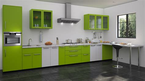 kitchen design green green modular kitchen designs straight kitchen designs