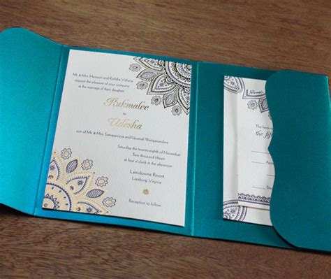 wedding invitation card printing india fancy floral hindu mandala in gold foil and letterpress
