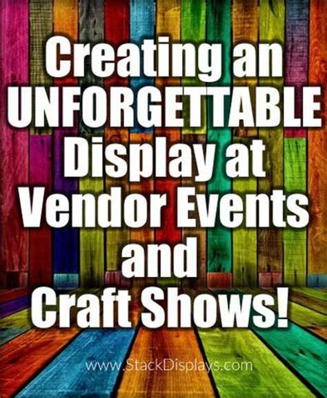 Vendor Giveaway Ideas - vendor booth ideas for setting up product displays by stack displays