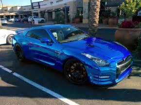 Blue Nissan Gtr Nissan Gtr R35 Blue Chrome